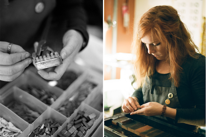 The Gingerly Press process as captured by Nicole Young, Girl Photography