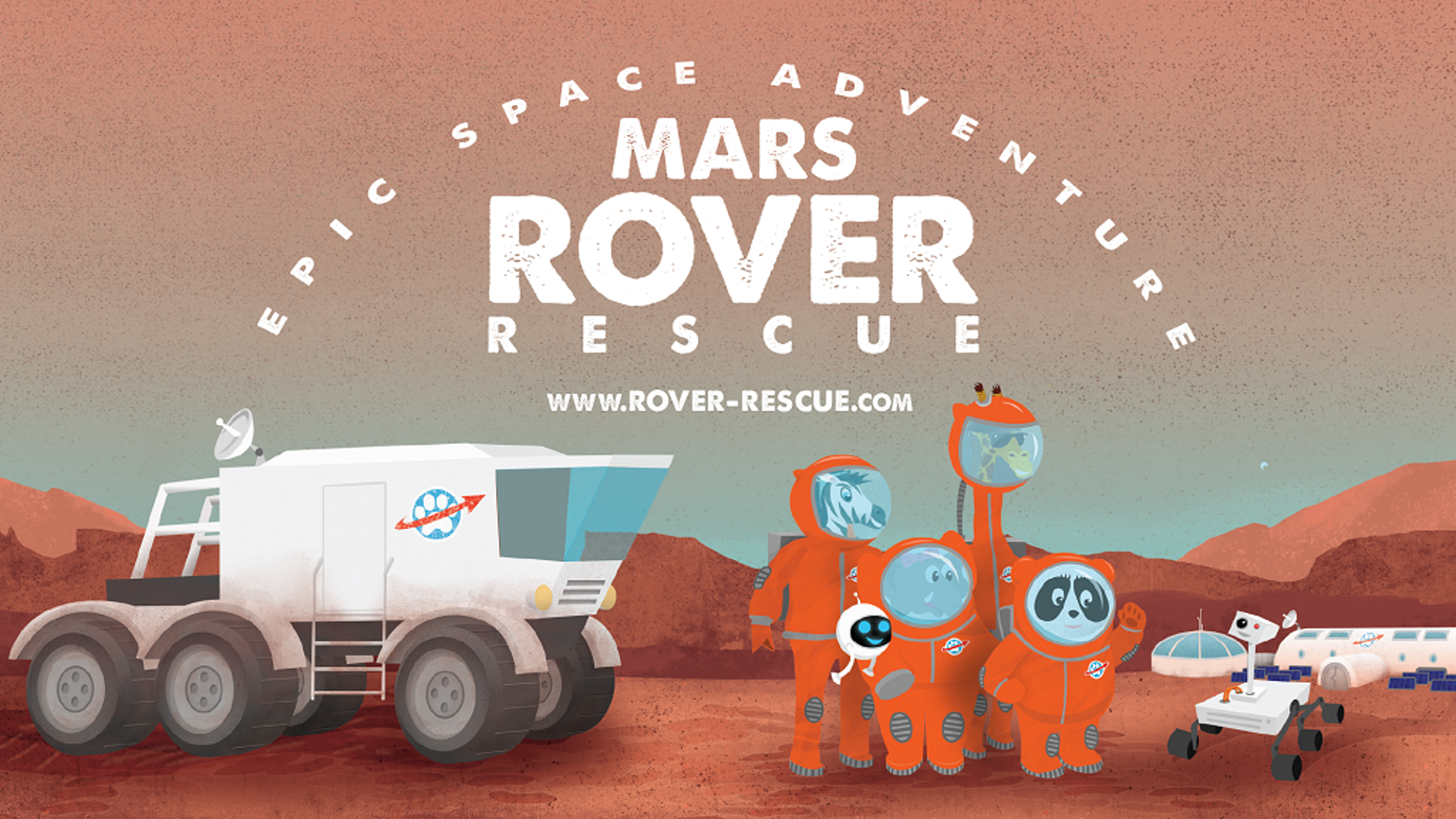 Your favorite giraffestronaut and robot are back, and this time they're forming a rescue party to search for a missing Mars rover.
