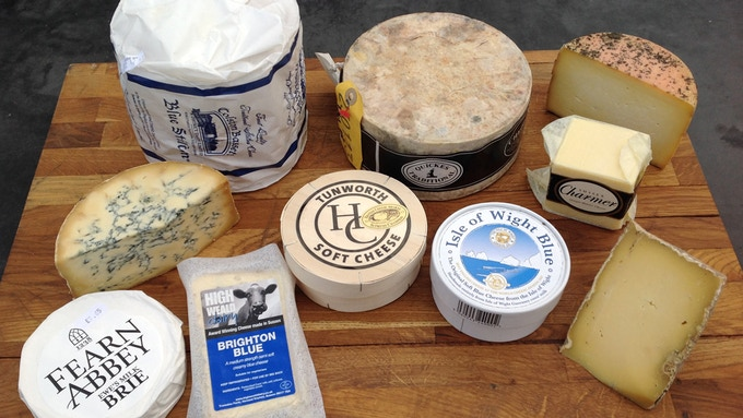 Local and English Cheeses for the deli