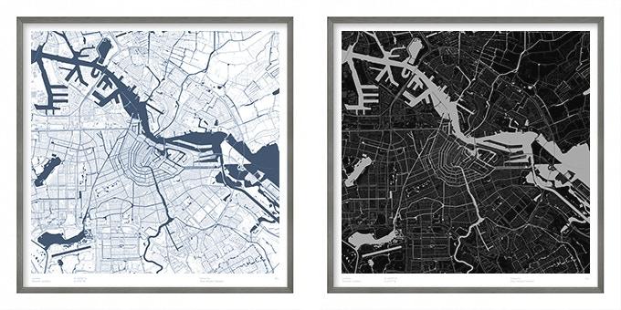 Amsterdam map poster.