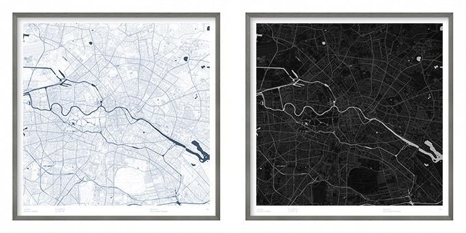 Berlin map poster.