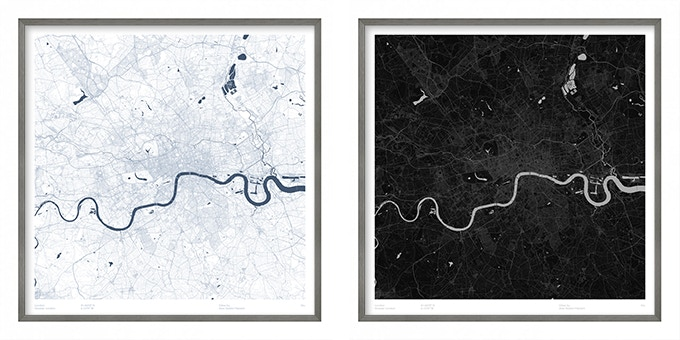 London map poster.