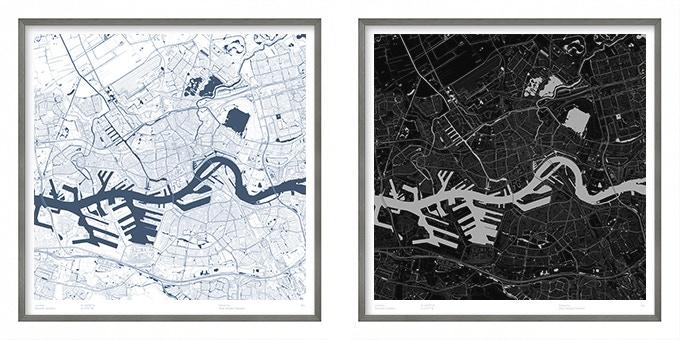 Rotterdam map poster.