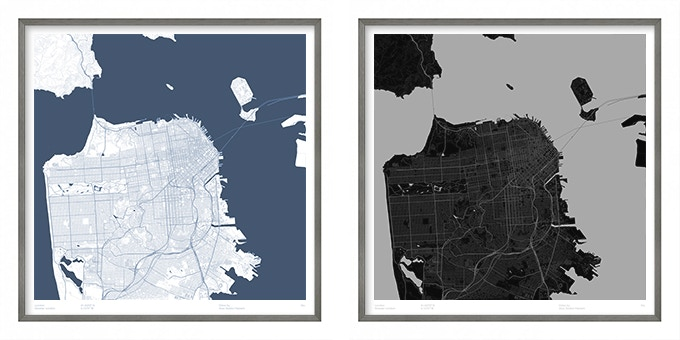 San Francisco map poster.