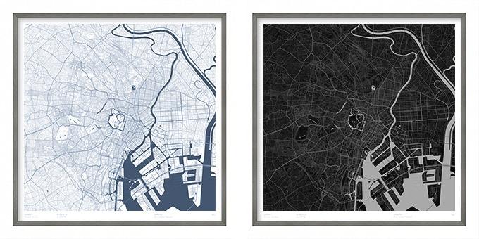 Tokyo map poster.