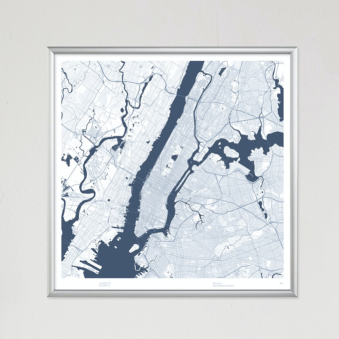 New York City map poster.