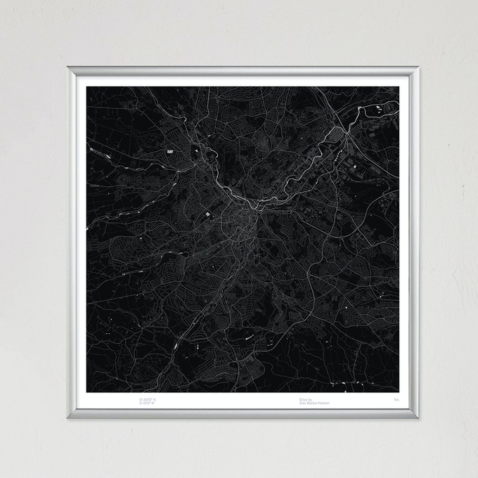 Sheffield map poster.