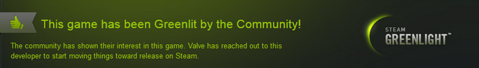 We've just been Greenlit by Steam!