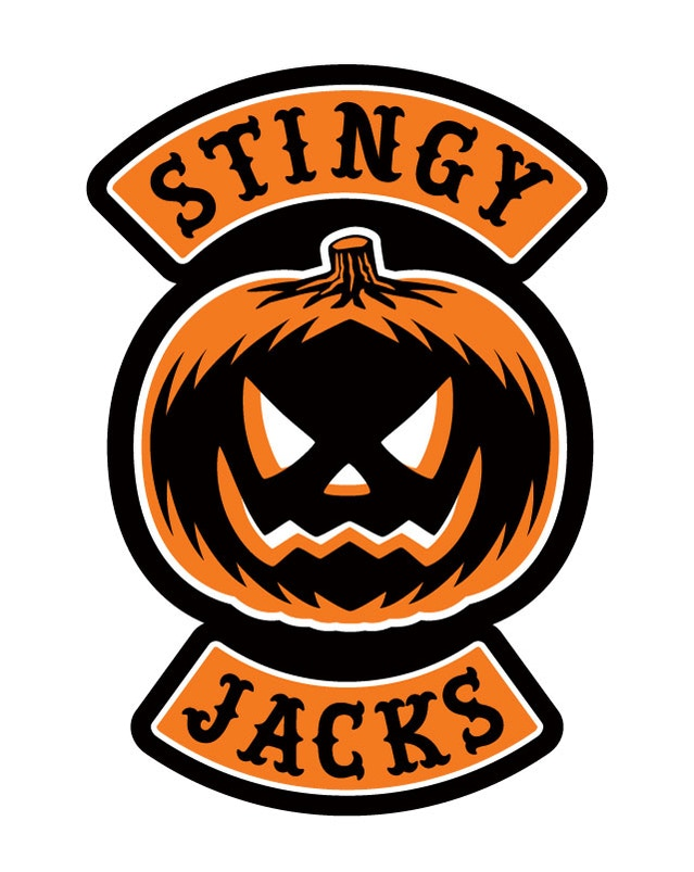 """Stingy Jacks"" jack-o-lantern patch art for the Hallows Angels patch set"