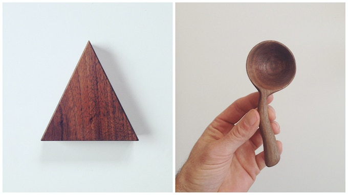 Desktop Triangle / Coffee Scoops (appearance & wood type will vary for each item)