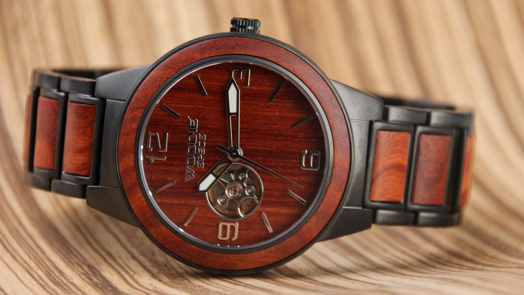 Handcrafted High-End Stainless Steel Watch with Natural Wood project video thumbnail
