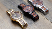Handcrafted High-End Stainless Steel Watch with Natural Wood