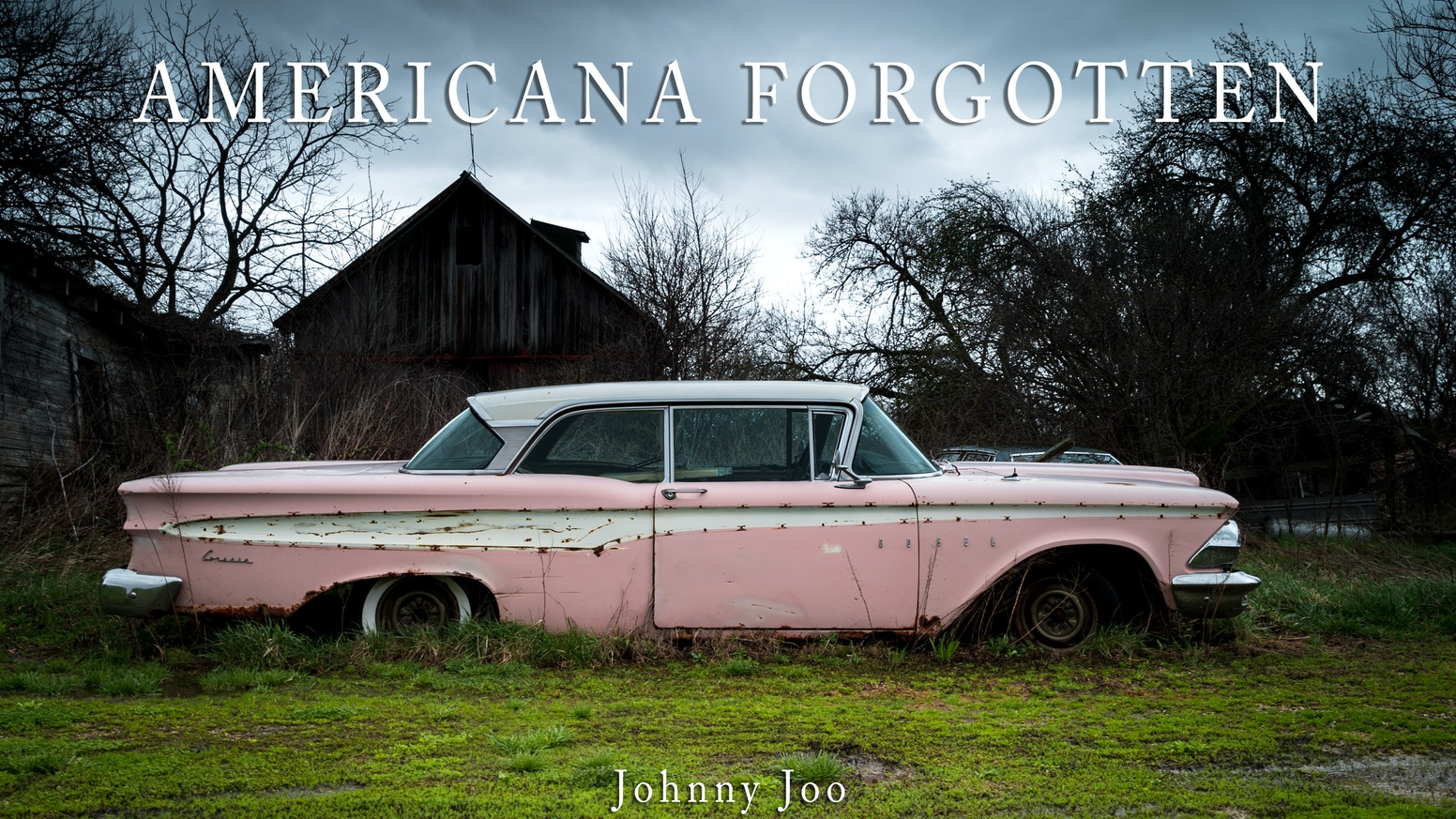 "Americana Forgotten is a book compiled from photos taken over years, showing the forgotten relics of ""Americana"" years."