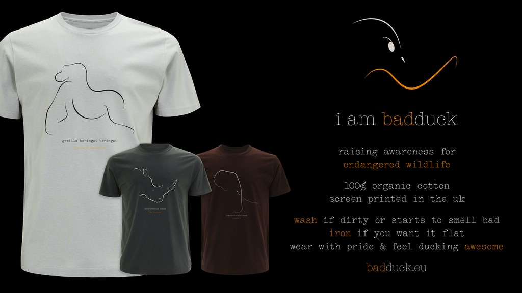 Project image for bad duck t-shirts .. wildlife conservation awareness