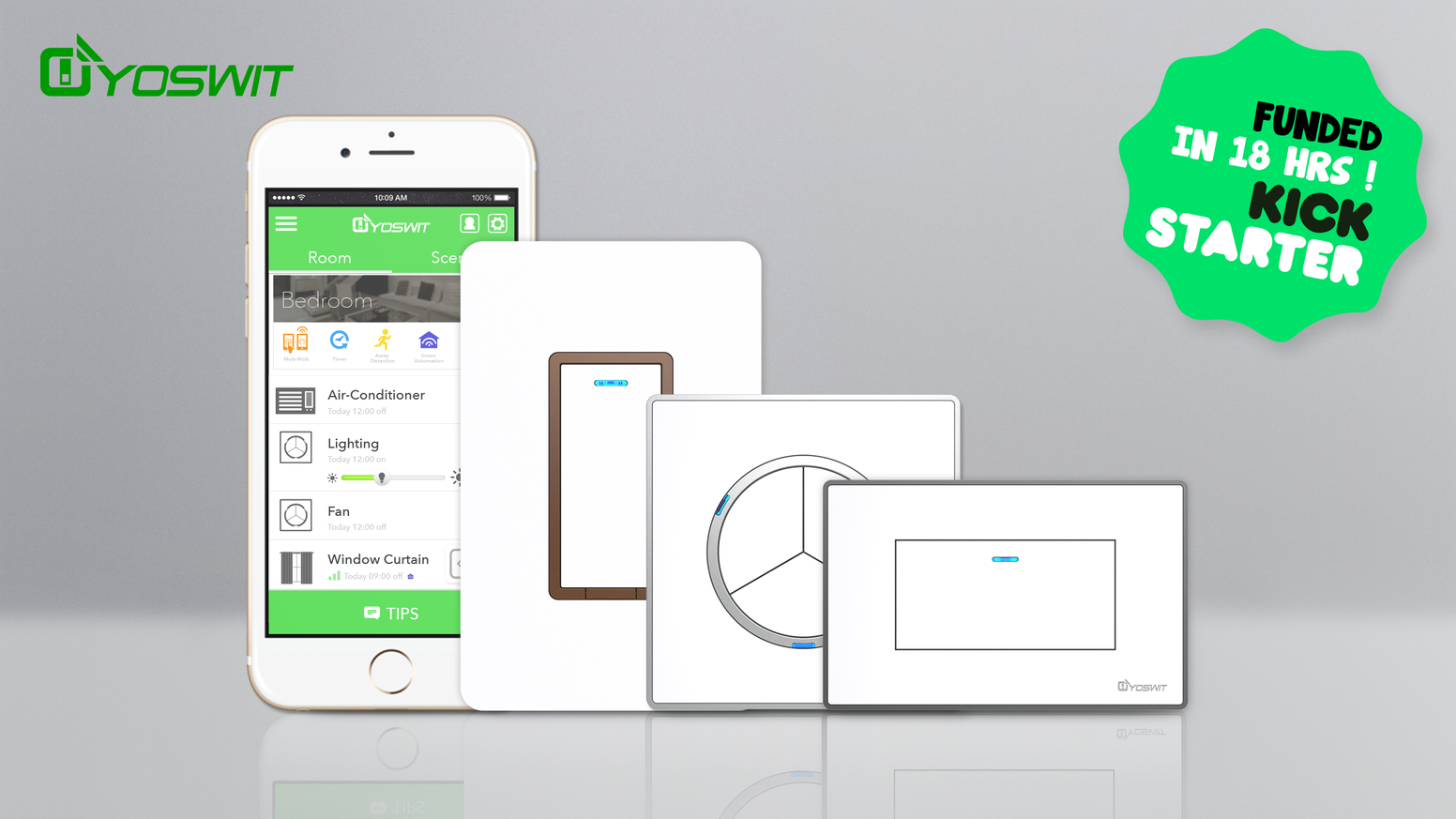 Yoswit Reinvented Smart Wall Switch By Kickstarter Leviton Framed Toggle Singlepole White Home Depot Canada The Direct Replacement Of Your Existing Supports Mesh And Remote Control Outside
