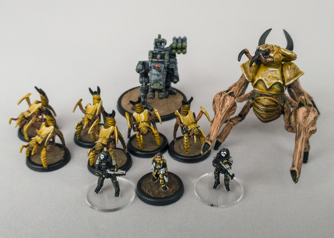 Relative sizes of the Sigma Event 2177 miniatures