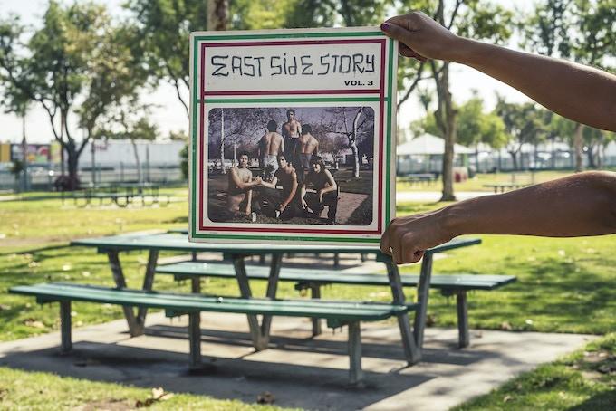 Dueñas on site of East Side Story Vol. 3.