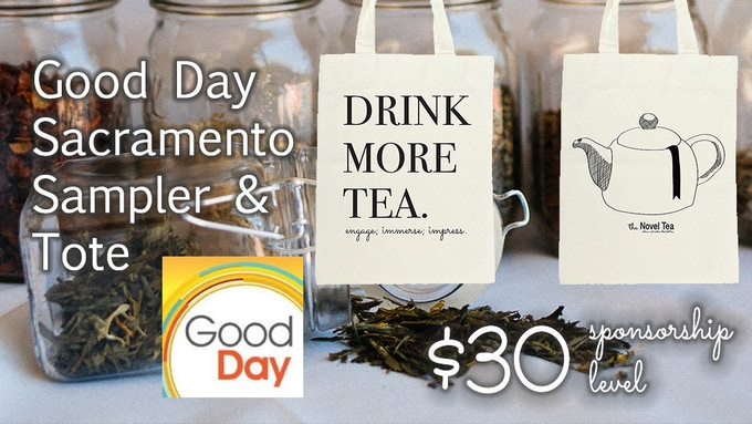 Get a tote and three samples of tea!