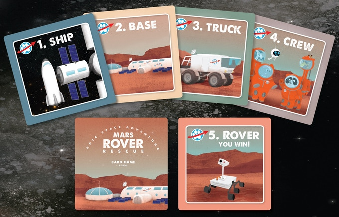 Assemble your ship, base, truck, and crew to be the first to find the lost rover