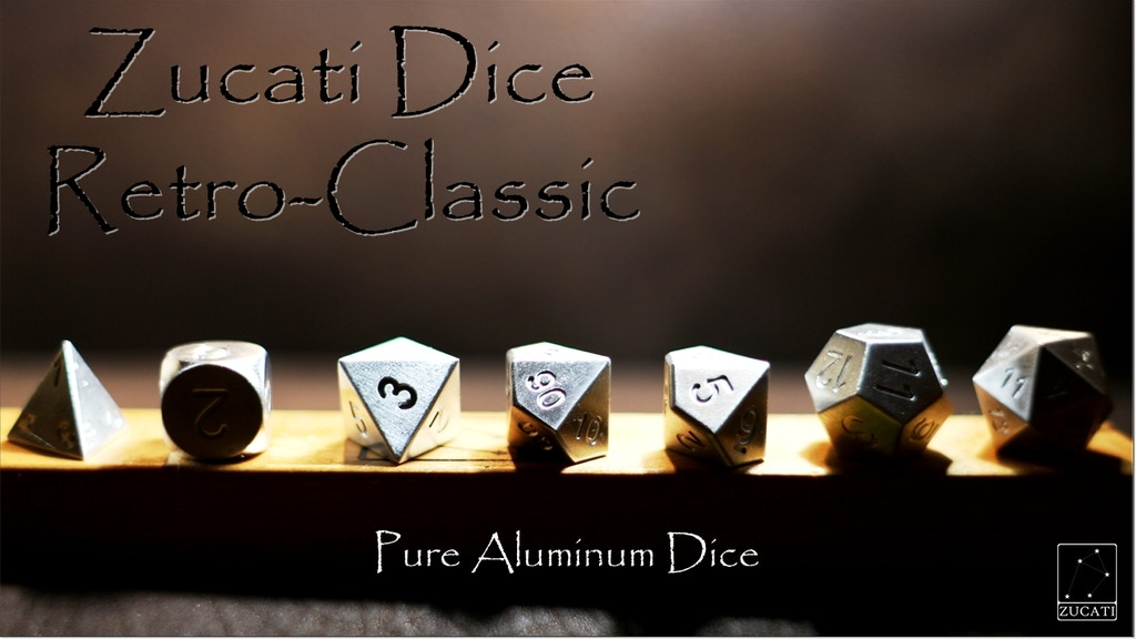Zucati Dice: Retro Classic Pure Exotic Metal Dice project video thumbnail