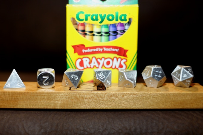 Special Holiday 2016 bundles are available that come with a brand new and cheerful pack of Crayola Brand Crayons, a 7pc set of Aluminum dice and a special gift case for the dice.