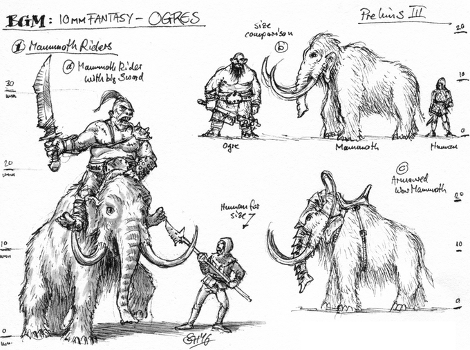 Ogre Mammoth Riders