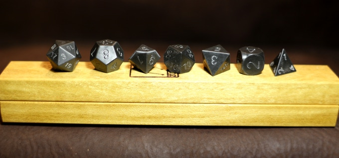 Blackend Zirconium with YellowHeart Dice Base One Bundle
