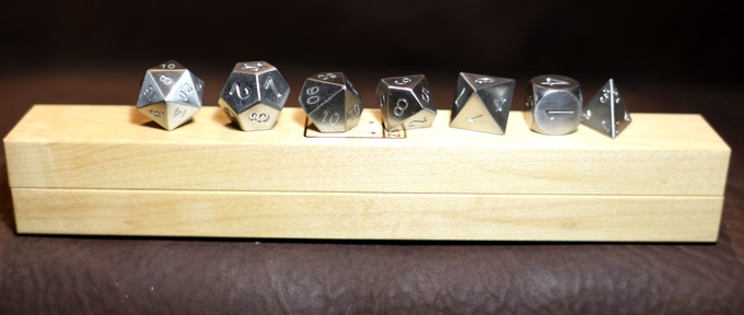 Zirconium with White Maple Dice Base One Bundle