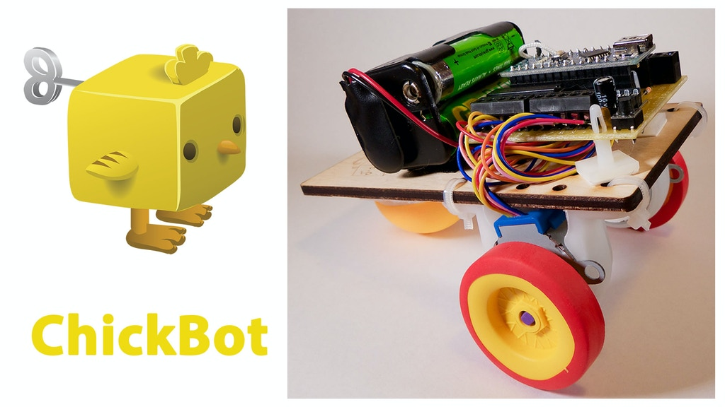 ChickBot - the fully functional low-cost robot project video thumbnail
