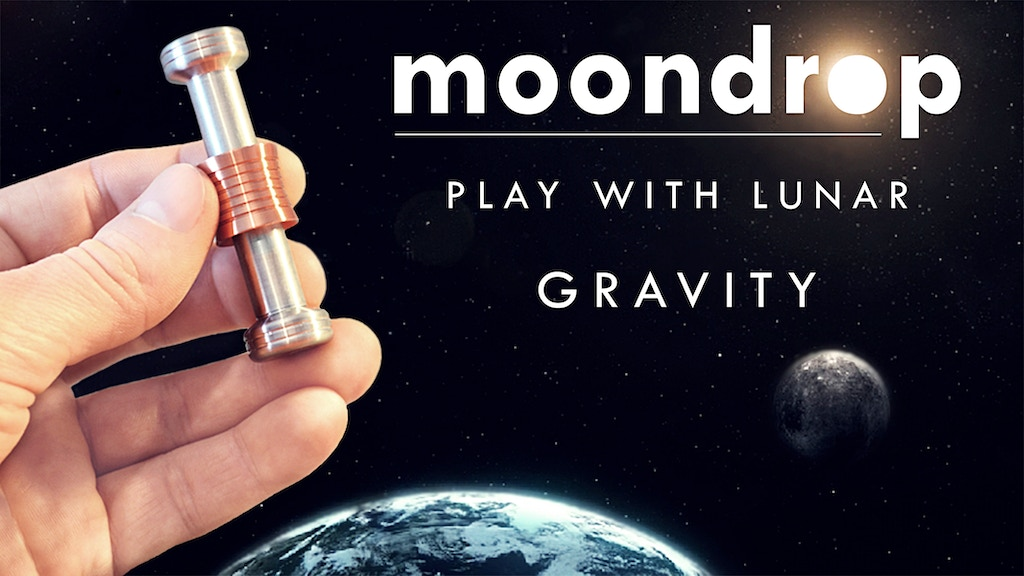 MOONDROP- Fidget desk toy displaying gravity on the MOON project video thumbnail