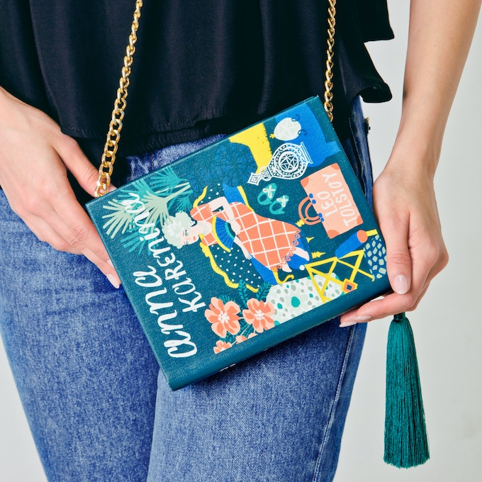 Thankfully we are living in times when all the girls in the world are superior to all humanity ;) This colorful book-clutch is a perfect reminder of who actually run the world these days!