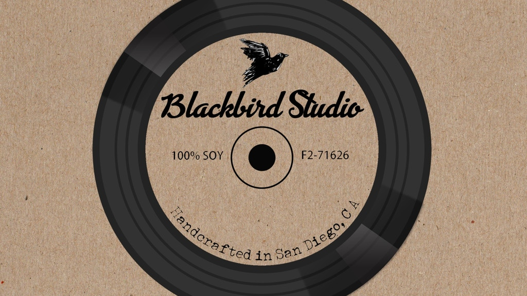 Project image for Blackbird Studio: Music + Aromatherapy Candles