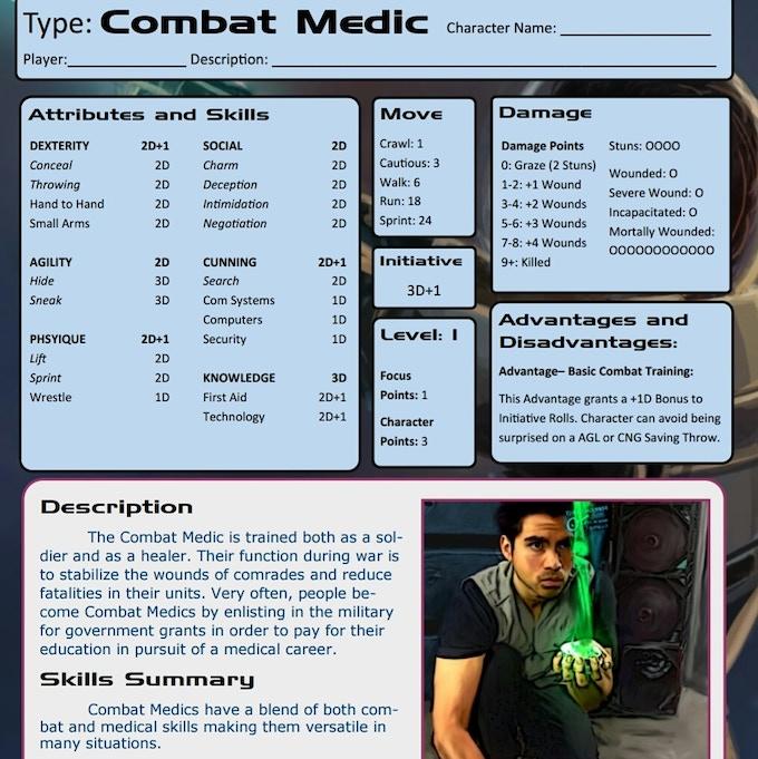 Combat Medic Character Sheet