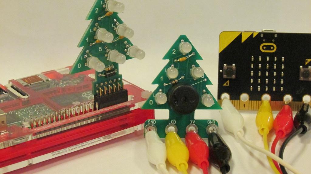 RGB Xmas Tree kits for Raspberry Pi, micro:bit & Codebug project video thumbnail