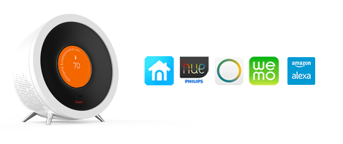 Examples include nest, Philps hue, SmartThings, WeMo or alexa. Plus more to come.