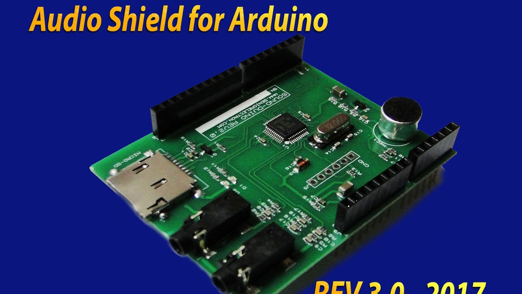 Soundduino sterio audio shield for arduino by masih
