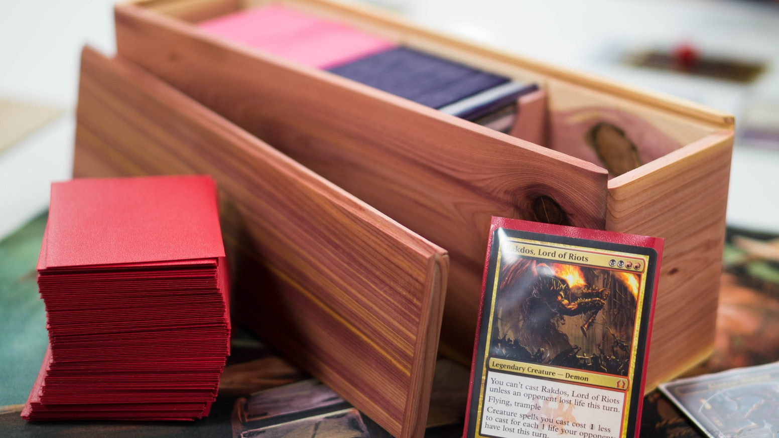Do you love Magic the Gathering? Do you have a deck in need of a solid home? Do you not speak latin? Good, these boxes are for you!
