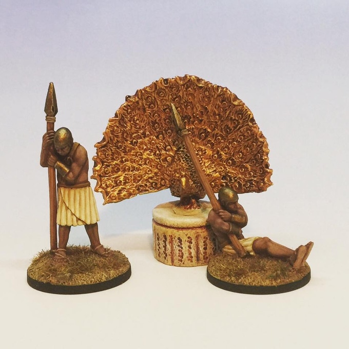 "With some gold paint & mounted on a stand, the peacock makes for an interesting treasure item for the Sleepy Sentries to ""guard""."