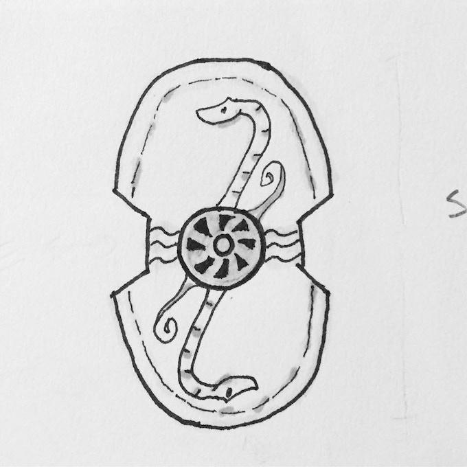 Shield design by Des Hanley, art by me!