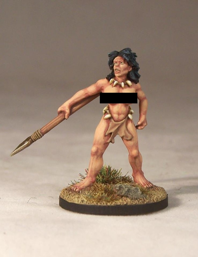 Queen of the Jungle, sculpted by Mark Evans, painted by Andrew Taylor