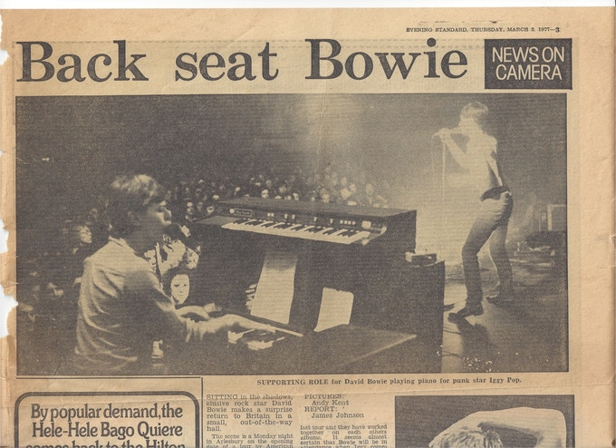 London's Evening Standard review of the Friars Iggy Pop gig - 1 March 1977