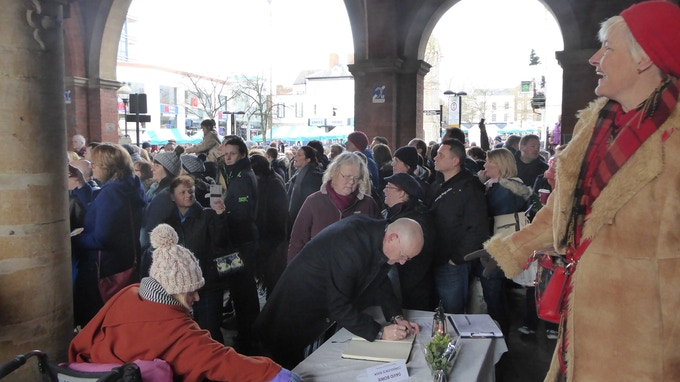 Bowie tribute event under the arches in Aylesbury Market Square - 16 Jan 2016