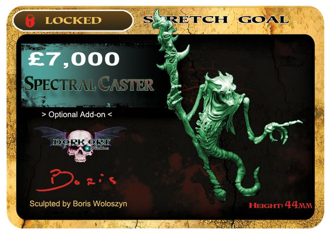 Spectral Caster will be cast in a lead free alloy metal