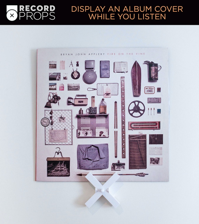 Display Vinyl Records In Style With Record Props by tim