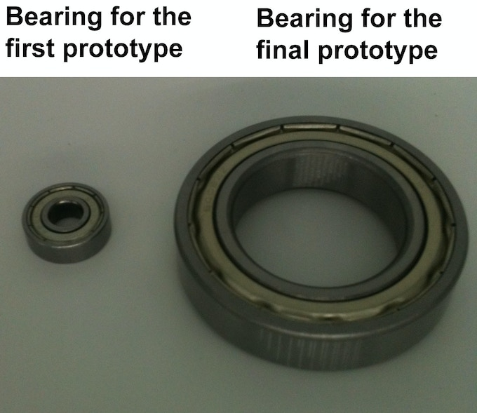bearings for turnable prototype