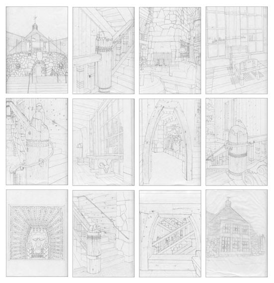TIMBERLINE LODGE: a coloring book by Bonny Wagoner