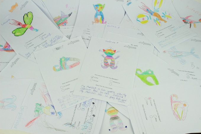 We went to kids to get ideas for colours, names and characters