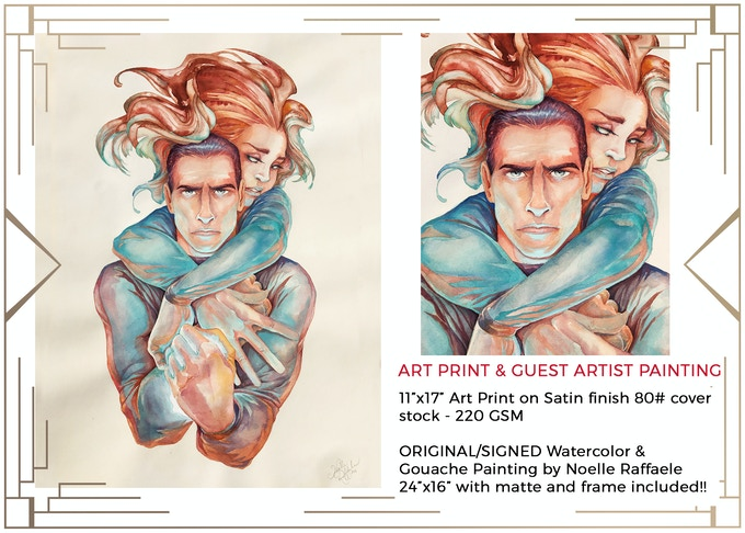 For pledges of $100 or more, you will receive a LIMITED ART PRINT of an ANANKE inspired Watercolor Painting by Guest Artist Noelle Raffaele!  $750 for ORIGINAL PAINTING that comes with MATTE & FRAME!! (PAINTING SOLD OUT!!!)