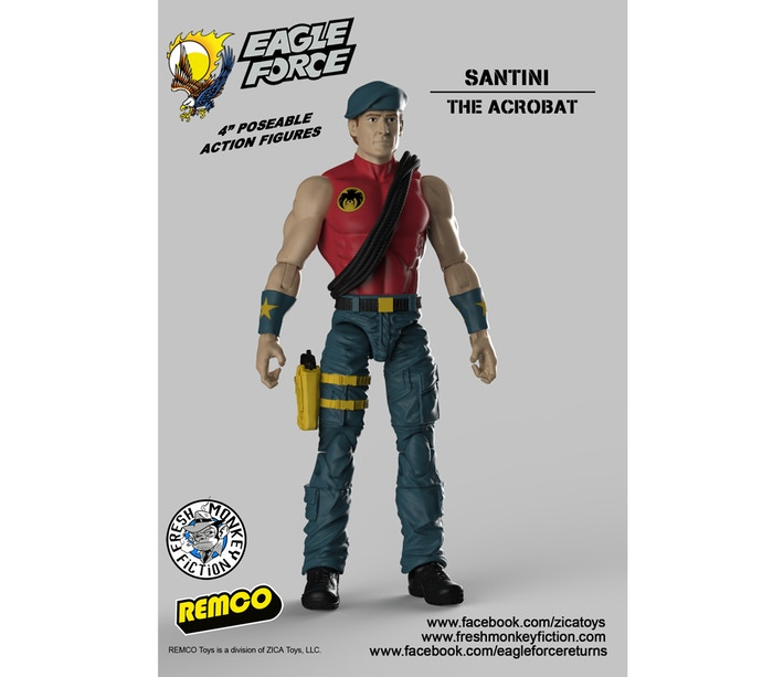 Eagle Force Santini Figure