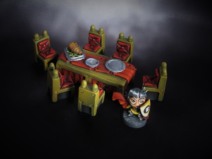 Dining Room set (Model not included, Supplied unpainted) 140g